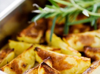 Middagar med perfekt klyftpotatis