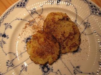 Potatisplättar med äpple