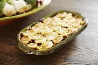 Tacogratäng med potatis